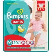 Fraldas Calça Pampers Pants Tam M - 20 Unidades