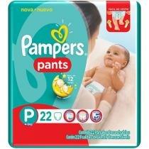 Fraldas Calça Pampers Pants Tam P - 22 Unidades