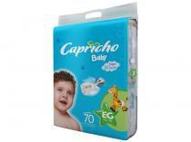 Fraldas Capricho Baby Tam EG 70 Unidades - Camada Interna Extra Suave com Aloe Vera