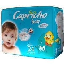 Fraldas Capricho Baby Tam M 24 Unidades - com Indicador de Umidade