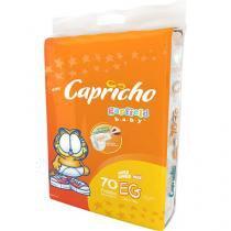 Fraldas Capricho Garfield Baby Tam EG 70 Unidades - Indicador de Umidade e Tecnologia Respirável