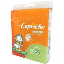Fraldas Capricho Garfield Baby Tam G 80 Unidades - Indicador de Umidade e Tecnologia Respirável