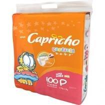 Fraldas Capricho Garfield Baby Tam P 100 Unidades - Indicador de Umidade e Tecnologia Respirável