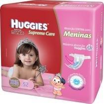 Fraldas Huggies Turma da Mônica - Supreme Care Meninas Tam XXG 52 Unidades