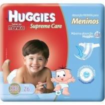 Fraldas Huggies Turma da Mônica - Supreme Care Meninos Tam XXG 26 Unidades