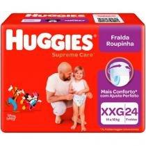 Fraldas Huggies Turma da Mônica Supreme Care - Roupinha Tam. XXG 24 Unidades Tecnologia MaxiSec