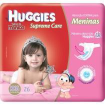 Fraldas Huggies Turma da Mônica Supreme Care - Soft Touch Menina Mega Tam XXG 26 Unidades
