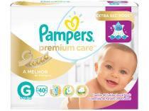 Fraldas Pampers Premium Care Tam G - 40 Unidades
