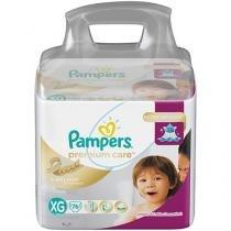 Fraldas Pampers Premium Care Tam. XG 76 Unidades - Extra Sec Pods