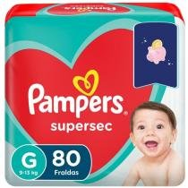 Fraldas Pampers Supersec Tam. G - 80 Unidades