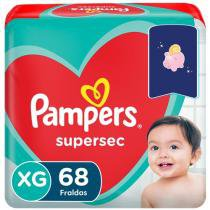 Fraldas Pampers Supersec Tam. XG  - 68 Unidades