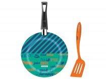 Frigideira Antiaderente Tramontina 24cm 2 Peças - Verde e Azul Breakfast 27813/001