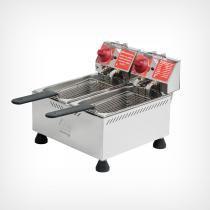 Fritadeira Elétrica 2 cubas 4 litros cada - Marchesoni -
