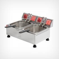 Fritadeira Elétrica 2 cubas 6 litros cada - Marchesoni -