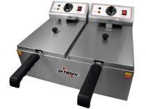 Fritadeira Elétrica Industrial Skymsen FED-20-N - 10L Inox com 2 Cestos