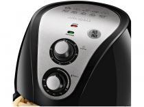 Fritadeira Elétrica Sem Óleo/Air Fryer Mondial - Family Inox-II Preta 4L com Timer