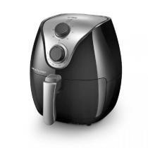 Fritadeira Elétrica Sem Óleo/Air Fryer Multilaser Gourmet CE021 Preta 4L com Timer -