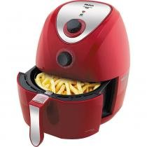 Fritadeira Elétrica Sem Óleo/Air Fryer Philco Air Fry Saúde Inox Vermelha 3,2L com Timer -