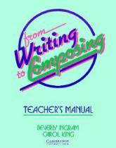 From writing to composing - teachers manual - Cambridge do brasil