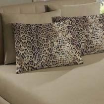 2f6afa6e8e Fronha Avulsa Portallar Malha Estampada Leopardo 48cmx68cm Trigo -