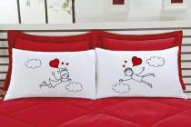 Fronha Emoções LOVE - Kit com duas - Tecido Percal 150 fios 100 algodão - Vivart