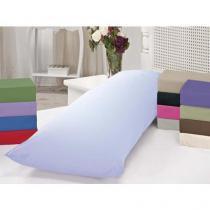 Fronha para Travesseiro de Corpo Casa Dona 200 Fios com Zíper Branca -