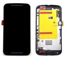 Frontal Moto G2 Xt1068 Xt1069 Xt1078 Xt1079 Preto Com Aro 1 Linha - Com Kit Ferramentas - Motorola