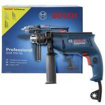 """Furadeira de Impacto Bosch 550W Velocidade Variável Mandril 1/2"""" GSB 550 RE Professional"""