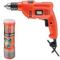 Furadeira de Impacto + Kit Brocas e Pontas Black  Decker TM500 - 110v - Black  Decker