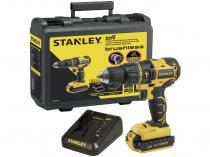 """Furadeira e Parafusadeira a Bateria de Impacto - Stanley 20V 2 Velocidades 1/2"""" com Maleta 5 Peças"""