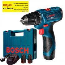 Furadeira e Parafusadeira a Bateria GSR 120-LI Professional com Kit Bosch -