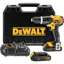 Furadeira e parafusadeira litio profissional 20v c/ 2 baterias e maleta lithium dewalt dcd785c2-b2 - Dewalt