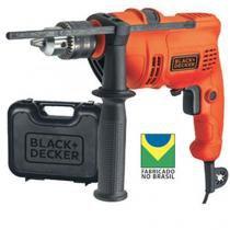 """FURADEIRA IMP.1/2"""" 650W220V COM KIT BOX - Black  Decker"""