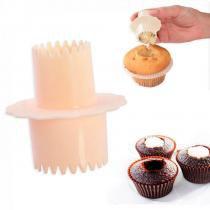 Furador Recheador de Cupcake com Dois Tamanhos Fackelmann -