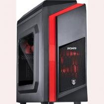 Gabinete Gamer Pcyes Mid Tower Dwarf Fan Com Lateral em Acrílico Led -