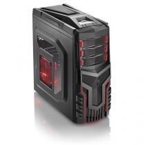 Gabinete Gamer S/ Fonte - Cooler C/ Led Multilaser - GA124 - Multilaser
