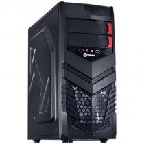 Gabinete Mid-Tower VX Gaming Vulcan V2 Preto LED Branco - Vinik - Vinik