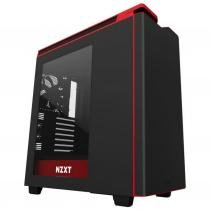 Gabinete nzxt h400i preto/vermelho ca-h400w-br -