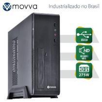 Gabinete Office SLIM MATX MVS1 01GAMVS-USB2-275 2X USB 2.0 - Fonte 275W - Movva