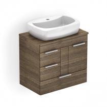 Gabinete para Banheiro 1 Porta 3 Gavetas com Cuba Thema Incepa Wengue -