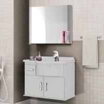 Gabinete para Banheiro com Espelheira Pratic Cerocha (Acompanha Cuba/Não acompanha Torneira) Branco -