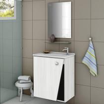 Gabinete para Banheiro com Espelho 1 Porta - Móveis Bechara Lisboa