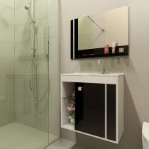 Gabinete para Banheiro com Espelho 1 Porta - Móveis Bechara Veneza II