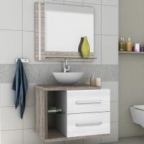 Gabinete para Banheiro com Espelho 2 Gavetas - Móveis Bechara Milão II
