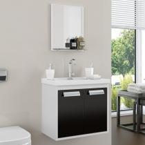 Gabinete para Banheiro Rigel Cerocha (Acompanha Cuba e Espelheira) Preto - Cerocha
