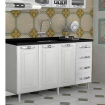 Gabinete para Cozinha 3 Portas 4 Gavetas - Colormaq Lux