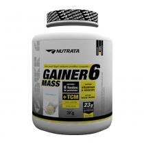 Gainer 6 Mass 3kg Chocolate Nutrata - Nutrata