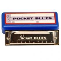 Gaita Pocket Blues em Dó 20 Vozes com Estojo Dolphin - Dolphin