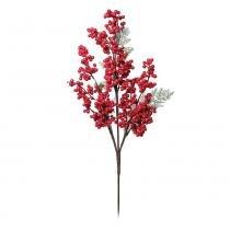 Galho C/ Cereja Decoração Natal Vermelha - Cromus