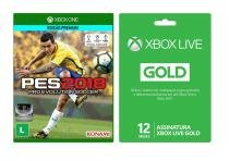 Game Pro Evolution Soccer 2018 - Xbox One + Live Card Microsoft Gold 12 Meses - Microsoft